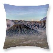 morning light Mount Bromo - Java Throw Pillow