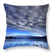 Morning Light On Okanagan Lake Throw Pillow