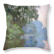 Morning On The Seine Near Giverny 1897 Throw Pillow