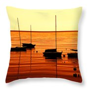 Morning Over Rockport Throw Pillow