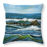 Morning Rush Throw Pillow