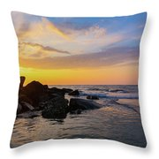Morris Island Sunrise Throw Pillow