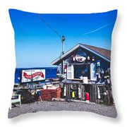 Morse Lobster Shack Throw Pillow