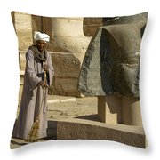 Mortuary Temple Of Rameses II Throw Pillow