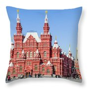 Moscow's State Historical Museum  Throw Pillow