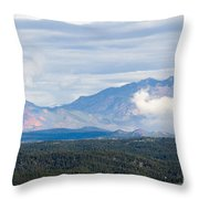 Mosquito Range Mountains In Storm Clouds Throw Pillow