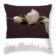 Mothers Day Card Throw Pillow