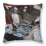 Motorcycle Close Up 1 Throw Pillow