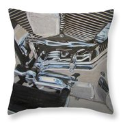 Motorcycle Close Up 2 Throw Pillow