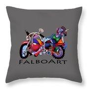 Motorcycle Mama Throw Pillow