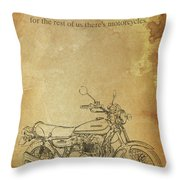 Motorcycle Quote Throw Pillow