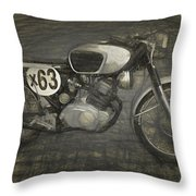 Motorcycle Throw Pillow