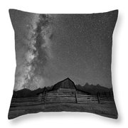 Moulton Barn Milky Way  Throw Pillow