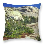 Mount Chocorua Granite Summit Throw Pillow