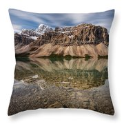 Mount Crowfoot Reflection Throw Pillow
