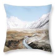 Mount Everest Throw Pillow by Setsiri Silapasuwanchai