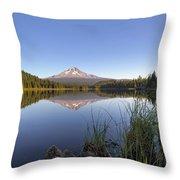Mount Hood At Trillium Lake Throw Pillow