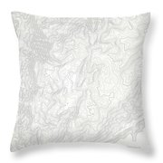 Mount Kosciuszko Art Print Contour Map Of Mount Kosciuszko In Au Throw Pillow