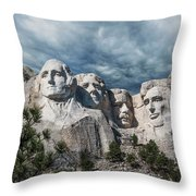 Mount Rushmore II Throw Pillow