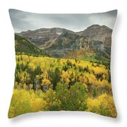 Mount Timpanogos Fall Colors Throw Pillow
