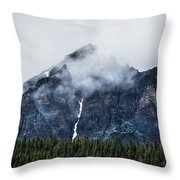 Mountain Throw Pillow by Adnan Bhatti