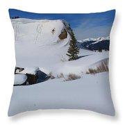Mountain History Throw Pillow