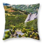 Mountain Lake In 5 Lakes Valley In Tatra Mountains, Poland. Throw Pillow