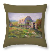 Mountain Mill Throw Pillow