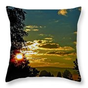Mountain Sunrise Throw Pillow