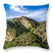 Mountains At Towsley Canyon In Southern California Throw Pillow
