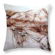 Mountains In Snowdonia Throw Pillow