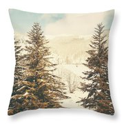 Mountains In The Background Xi Throw Pillow