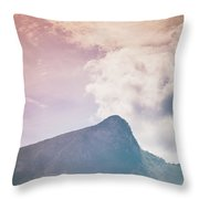 Mountains In The Background Xv Throw Pillow