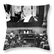 Movie Theater, 1920s Throw Pillow by Granger