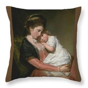 Mrs Johnstone And Her Son Throw Pillow
