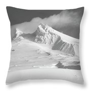 Mt. Hood In Winter Throw Pillow