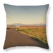 Mt Hood Sunset Throw Pillow