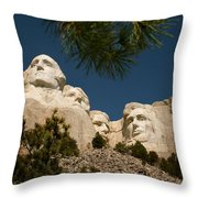 Mt Rushmore II Throw Pillow