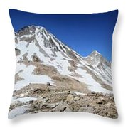 Muir Pass Panorama From High Above - John Muir Trail Throw Pillow