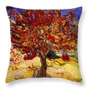 Mulberry Tree Throw Pillow