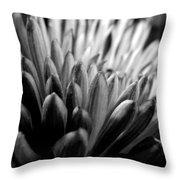 Monochrome Flower Series - Mumz The Word Throw Pillow