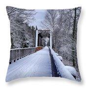 Munger Trail Bridge Throw Pillow