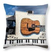 Mural - Downtown Bristol Tennessee/virginia Throw Pillow