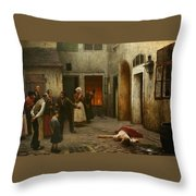 Murder In The House Throw Pillow