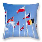 Musee Du Debarquement D-day Museum Throw Pillow