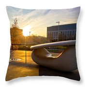Museum Of Contemporary Art In Zagreb Exterior Detail Throw Pillow
