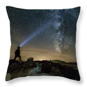 Mushroom Rocks Phenomenon Under The Night Sky Throw Pillow