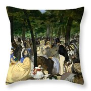 Music In The Tuileries Throw Pillow