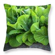 Mustard Greens Throw Pillow