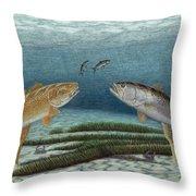 Mutual Pursuit Throw Pillow